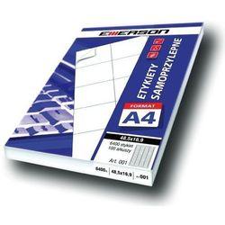 Etykiety 105 X 37,0 mm, 16 szt/A4 EMERSON uniwersalne (G) - X06637