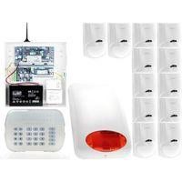 Zestawy alarmowe, ZA12552 Zestaw alarmowy DSC 12x Czujnik ruchu Manipulator LED Powiadomienie GSM
