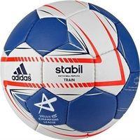 Piłka ręczna, Piłka ręczna adidas Stabil train Liliput I biało-niebieska G79745