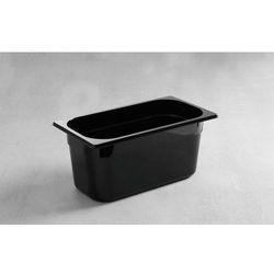 Pojemnik GN 1/3 z poliwęglanu | czarny | wys. 65 - 150mm