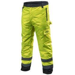 Spodnie robocze ocieplane żółte XL NEO