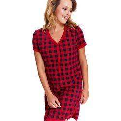 Koszula nocna ciążowa i do karmienia TM.9415 DN - Red