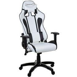 Fotel biurowy GIOSEDIO biało-czarny,model GSA024
