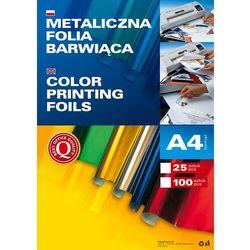 Metaliczna folia barwiąca A4, opakowanie 100 sztuk, srebrna, 361002