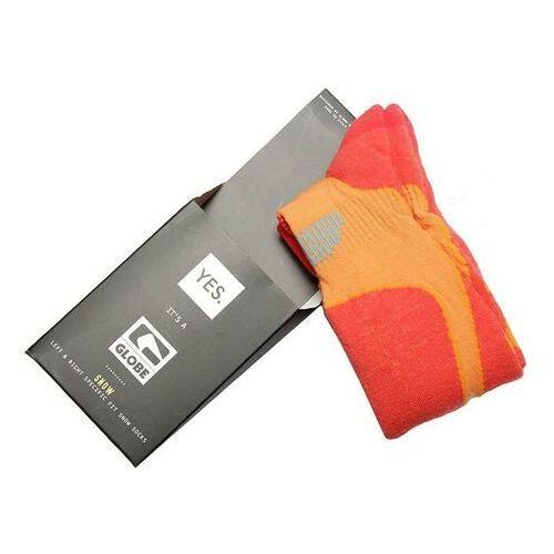 Odzież do sportów zimowych, skarpetki GLOBE - Yes/Globe Park Rat Sock Orange (ORANGE)