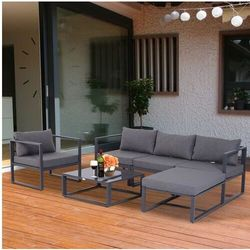 Meble ogrodowe metalowe 4-5 osob Lounge
