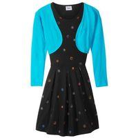 Zestawy odzieżowe dziecięce, Sukienka dziewczęca + bolerko (2 części) bonprix turkusowo-czarny