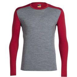 Icebreaker Oasis Bielizna z wełny merynosów Mężczyźni szary/czer L Koszulki bazowe z długim rękawem
