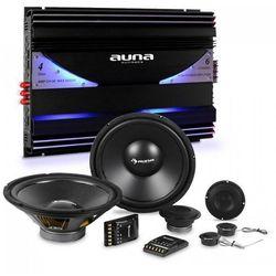 Auna CS-Comp-10 zestaw głośników samochodowych hi-fi | 6 -kanałowa końcowka mocy