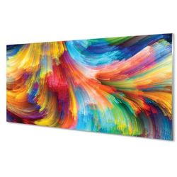 Panel Szklany Kolorowe nieregularne paski fraktale