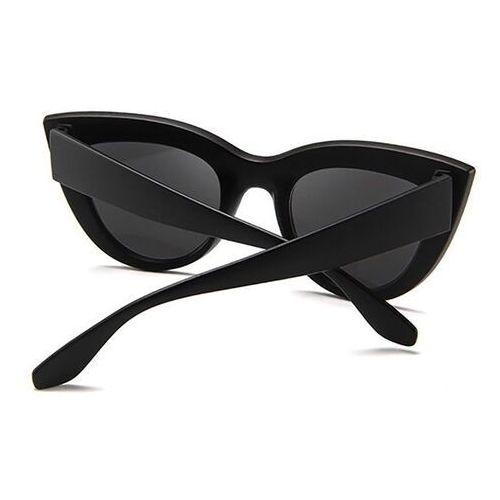 Okulary przeciwsłoneczne, Okulary damskie przeciwsłoneczne kocie czarne duże