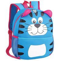 Tornistry i plecaki szkolne, Plecak neoprenowy Tygrys niebieski - Spokey