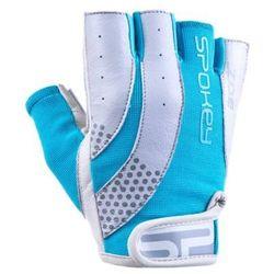 Rękawice fitness SPOKEY Zoe II Biało-niebieski (rozmiar M)