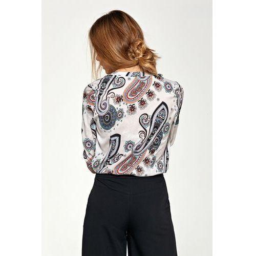 Bluzki, Bluzka z asymetrycznymi falbanami - wzór - B89