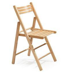 Krzesło składane EDINBURGH, drewniane, buk