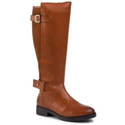 Oficerki TOMMY HILFIGER - Modern Suede Longboot FW0FW04335 Leather Brown 201