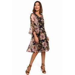 S214 Sukienka szyfonowa z obniżoną linią talii - model 3