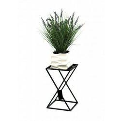 Kwietnik metalowy, stojak loft czarny 40 cm