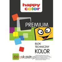Bloki, Blok techniczny A4, 10 kolorów, Happy Color PREMIUM