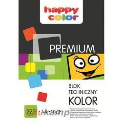 Blok techniczny A4, 10 kolorów, Happy Color PREMIUM