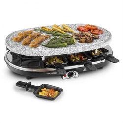 Steaklette Grill raclette 1500 W Granitowa płyta z kamienia naturalnego dla 8 osób