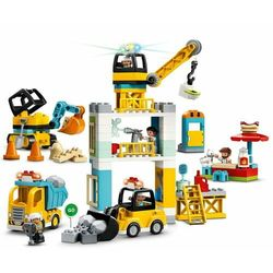 LEGO DUPLO® Town 10933 Konstrukcja z dźwigiem wieżowym