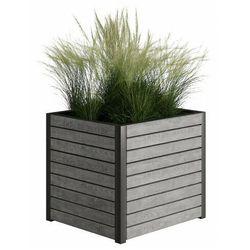 Szara skrzynka ogrodowa Zeris 3X - 24 kolory