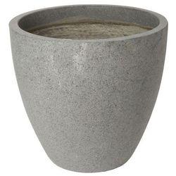 Donica Verve efekt cementu okrągła 50 cm antracyt