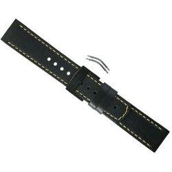 Pasek Suunto Elementum Terra Black/Yellow Leather Strap
