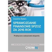 E-booki, Sprawozdanie finansowe samodzielnego publicznego zakładu opieki zdrowotnej za 2016 rok