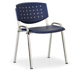 Krzesło konferencyjne Tony, niebieski - kolor konstrucji chrom