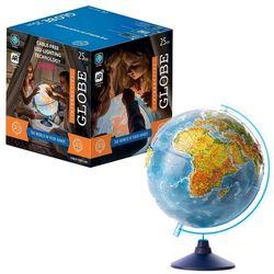 Globus 25 cm z mapą polityczną, fizyczną i aplikacją
