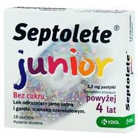 Leki na gardło, SEPTOLETE Junior x 18 pastylek