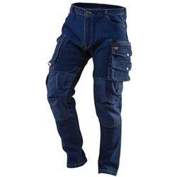 Spodnie robocze DENIM wzmocnienia na kolanach rozmiar XL 81-228-XL