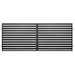 Brama dwuskrzydłowa Polbram Steel Group Lara 2 4 x 1 54 m czarna