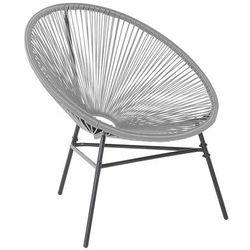 Krzesło ogrodowe jasnoszare ACAPULCO