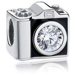 Rodowany srebrny charms do pandora aparat fotograficzny camera srebro 925 GS163