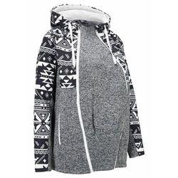 Bluza rozpinana ciążowa z polaru, z wstawką na nosidełko bonprix Bluza ciąż z pol z wst cz.kr