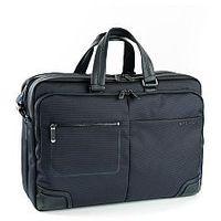 Pokrowce, torby, plecaki do notebooków, Teczka biznesowa, 2 w 1 dzielona na pół, z kieszenią na laptopa do 15,6' i tablet do 10', Nylon, marki Roncato kolekcja Wall Street - kolor granatowy
