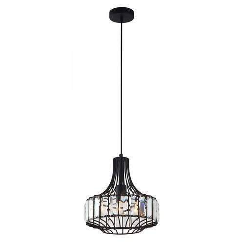 Lampy sufitowe, -- d o s t ę p n a - - LAMPA WISZĄCA SAWIN MDM-2725/1A BK ITALUX rabaty w koszyku
