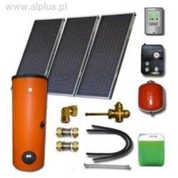 Zestaw solarny dla 3-5 osób 3x kolektory słoneczne POLSKIE meandryczne z absorberem Al/Cu+zbiornik 300l