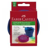 Pozostałe artykuły plastyczne, Pojemnik na wodę Click&Go niebieski FABER CASTELL