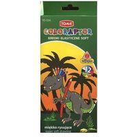 Kredki, Kredki elastyczne soft 12 kolorów miękko rysujące Coloraptor