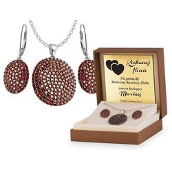 Srebrny Komplet Zestaw Biżuterii 925 z GRAWEREM YS18