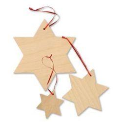 Drewniane gwiazdki świąteczne, Ozdoby choinkowe i świąteczne