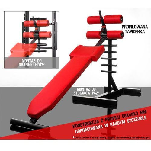 Ławki treningowe, Ławka Rzymska PL7 na drabinki PS2, HD17 Kelton GYM EQUIPMENT