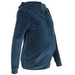 Bluza ciążowa z dzianiny welurowej nicki bonprix ciemnoniebieski