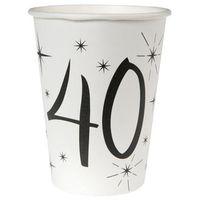 Naczynia jednorazowe, Kubeczki na czterdzieste urodziny 40tka - 10 szt.