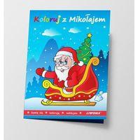 Książki dla dzieci, Koloruj z Mikołajem (opr. miękka)