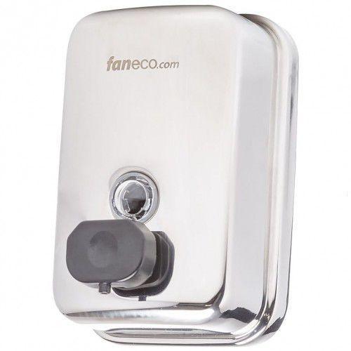 Dozowniki mydła, Dozownik do mydła w płynie 0,5 litra DUO Faneco stal szlachetna połysk
